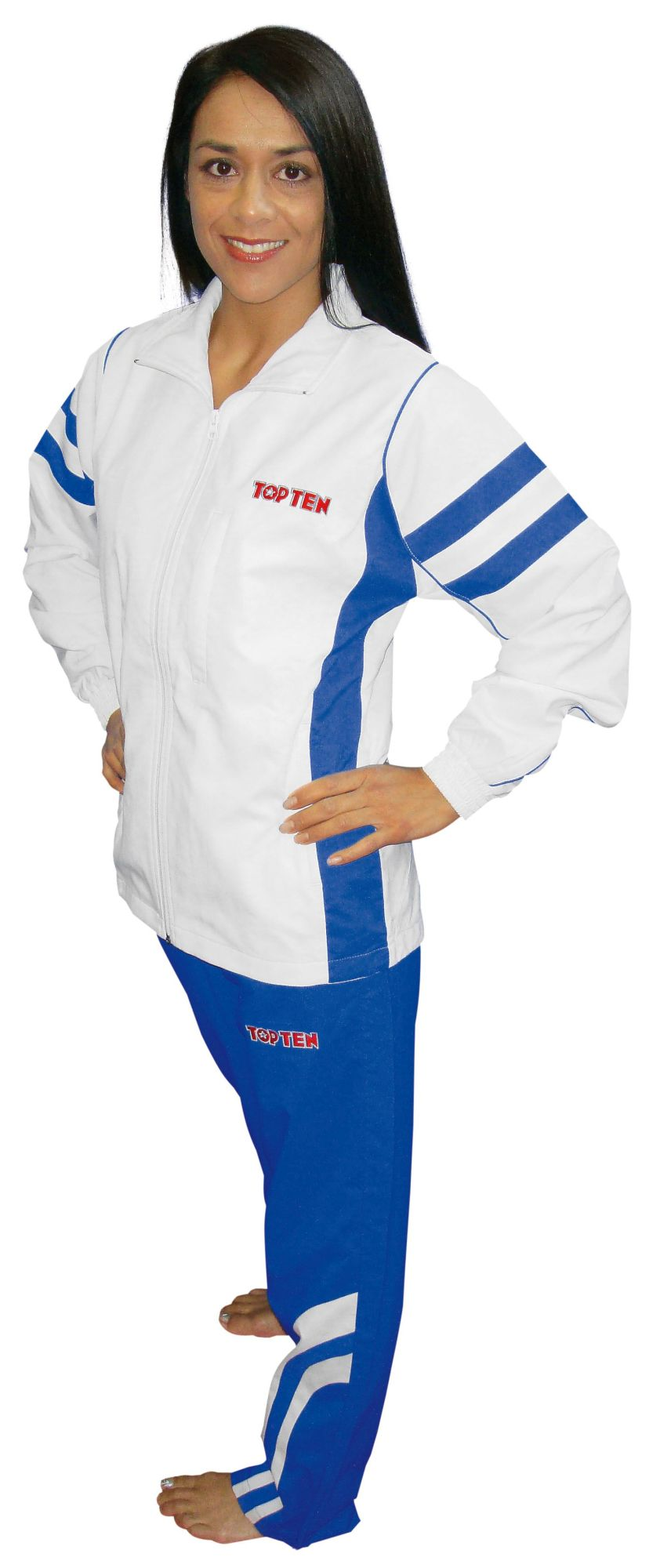 "TOP TEN Trainingspak ""Fight Elite"" Wit - Blauw"
