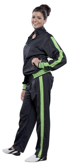 """Trainingspak """"Neon"""" voor kinderen Zwart - Groen"""