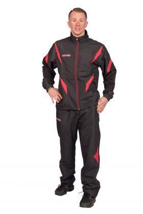"""Trainingspak """"Premium Quality"""" met zwarte broek voor kinderen Zwart - rood"""