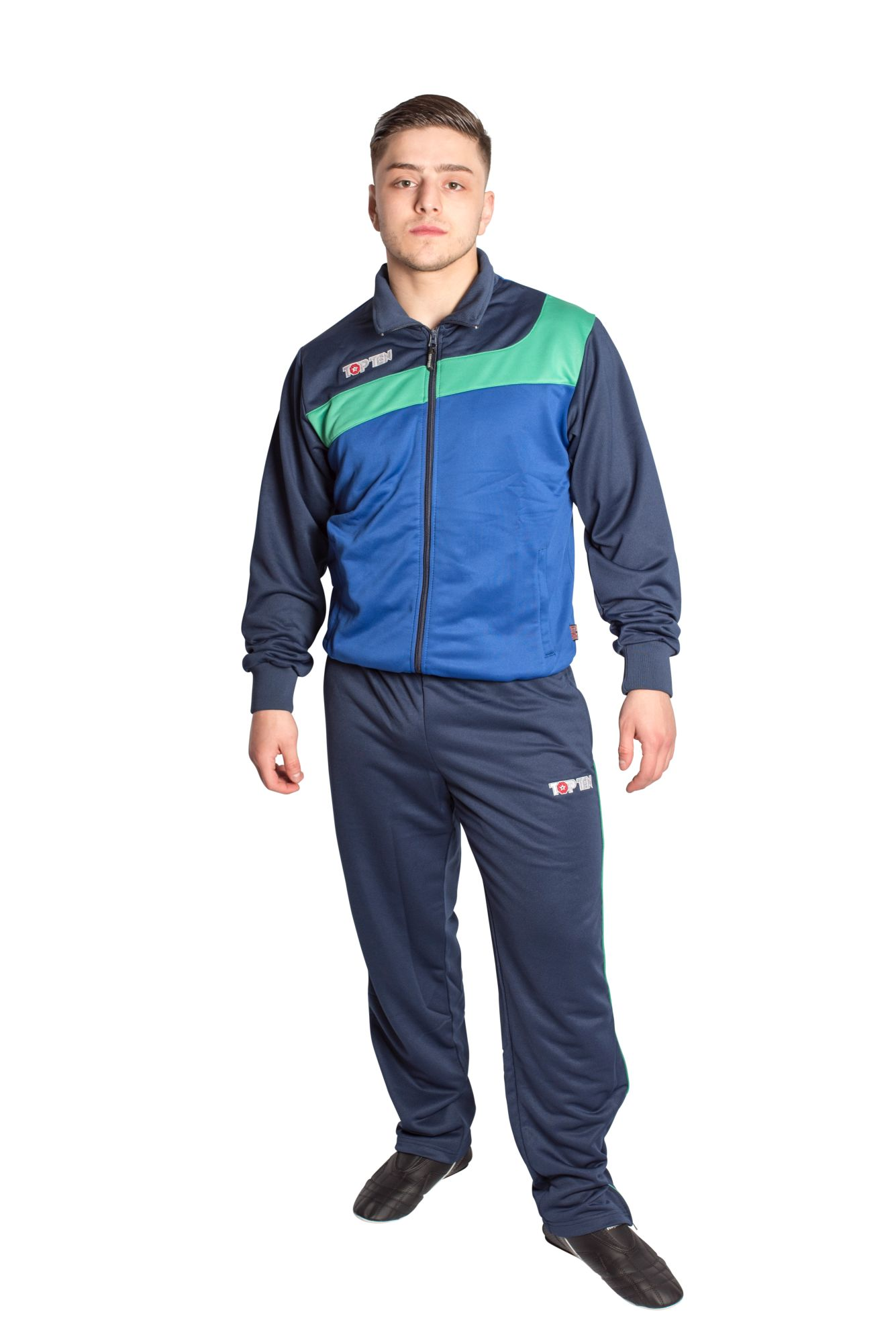 "Trainingspak ""Sporty"" Blauw - Groen"