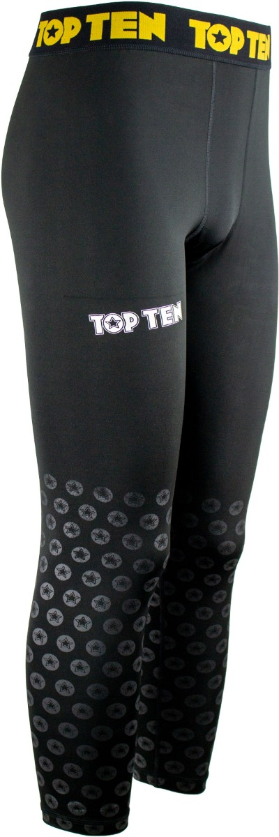 """TOP TEN Compressiebroek """"zwart print"""" / legging Zwart - goud"""