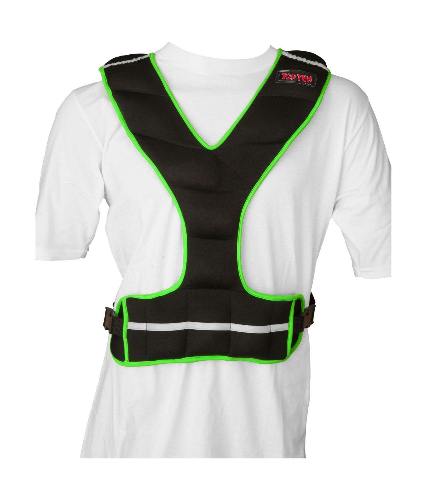 Gewichtsvest (neopreen) Zwart - Groen