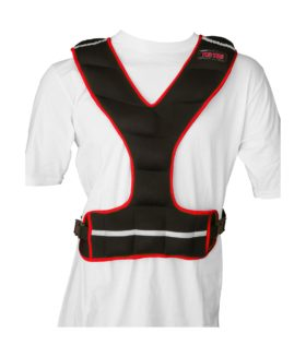 Gewichtsvest (neopreen) Zwart - rood