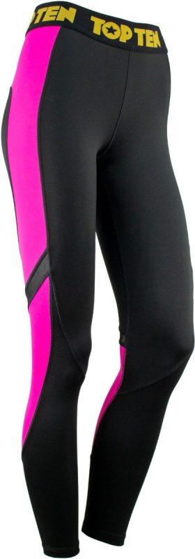 Fitness Compressiebroek / Legging Zwart - Roze
