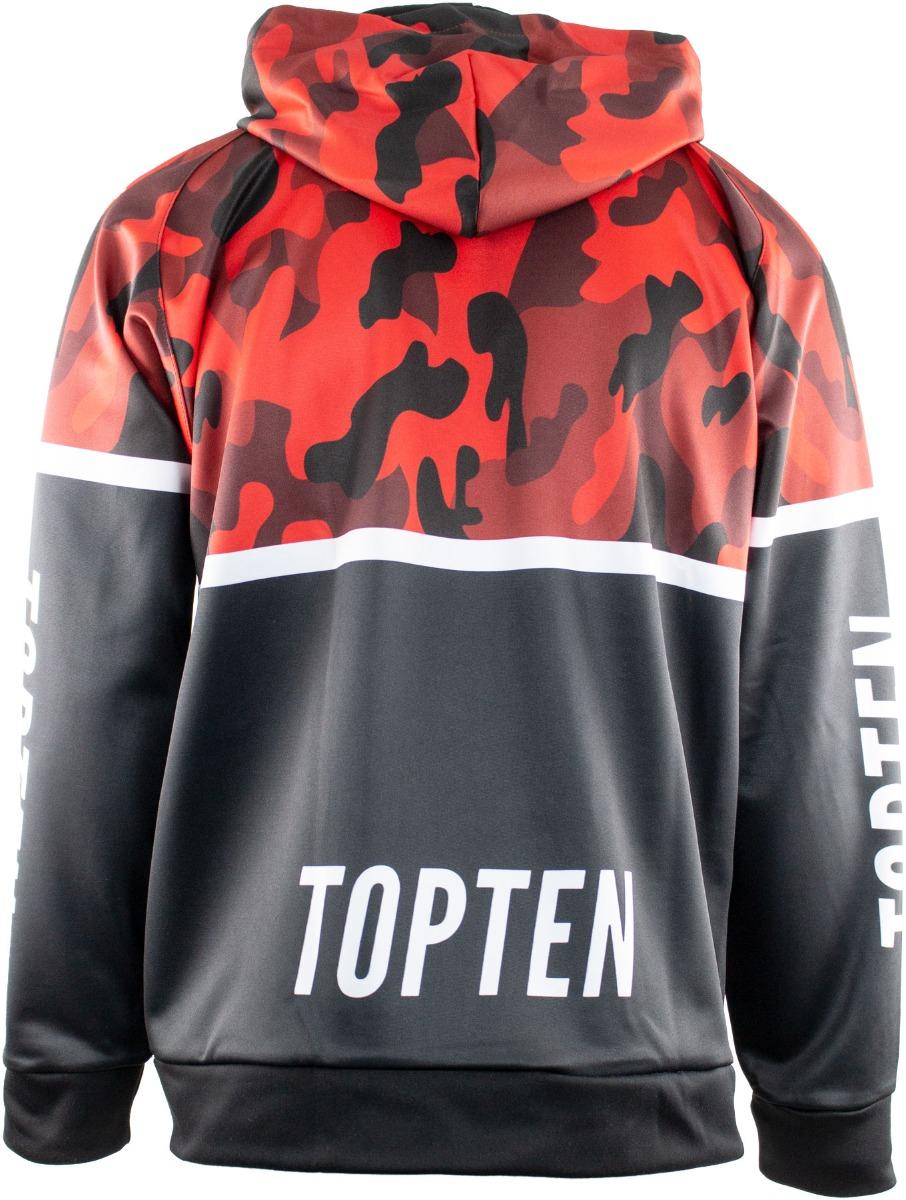 """TOP TEN Trui met hoodie en rits """"Camouflage"""" Zwart - Camouflage"""
