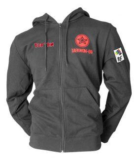"""Trui met hoodie en rits """"ITF Taekwondo"""" Zwart"""