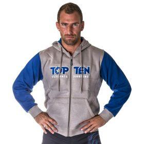 """Trui met hoodie en rits """"Ultimate Fighting"""" Blauw"""