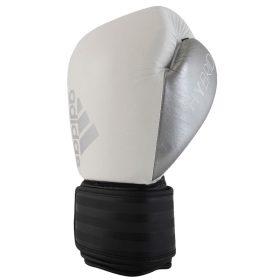 adidas Hybrid 200 (Kick)Bokshandschoenen Wit/Zwart/Zilver 10 oz