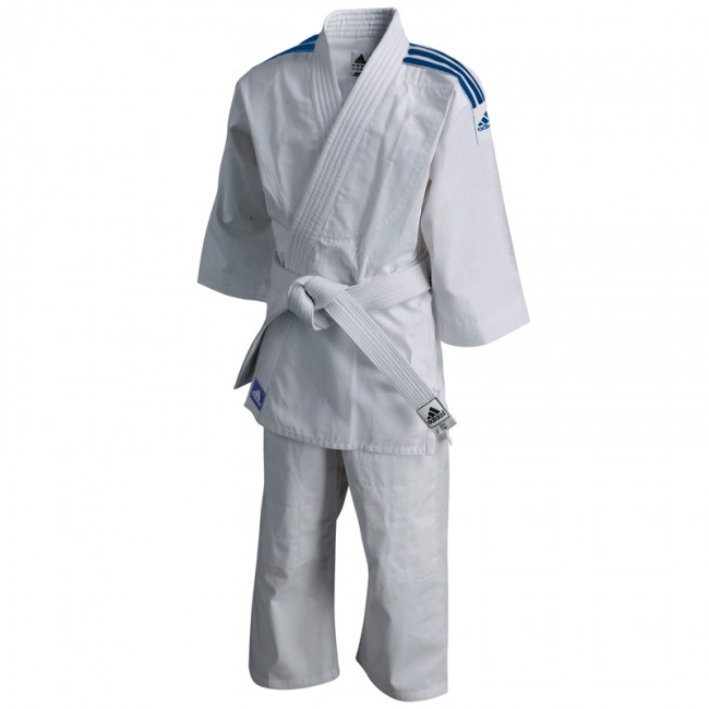 adidas Judopak J200 Evolution (Wit/Blauw)