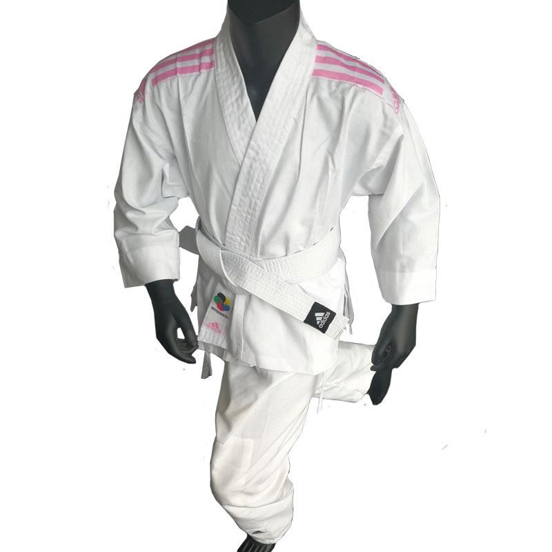 adidas Karatepak K200 Kids Wit/Roze 130/140 cm