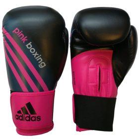 adidas (Kick)Bokshandschoenen Zwart/Shock Pink PinkBoxing (12 oz)