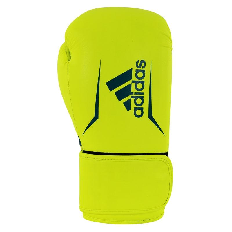 adidas Speed 100 (Kick)Bokshandschoenen Geel/Blauw 10oz