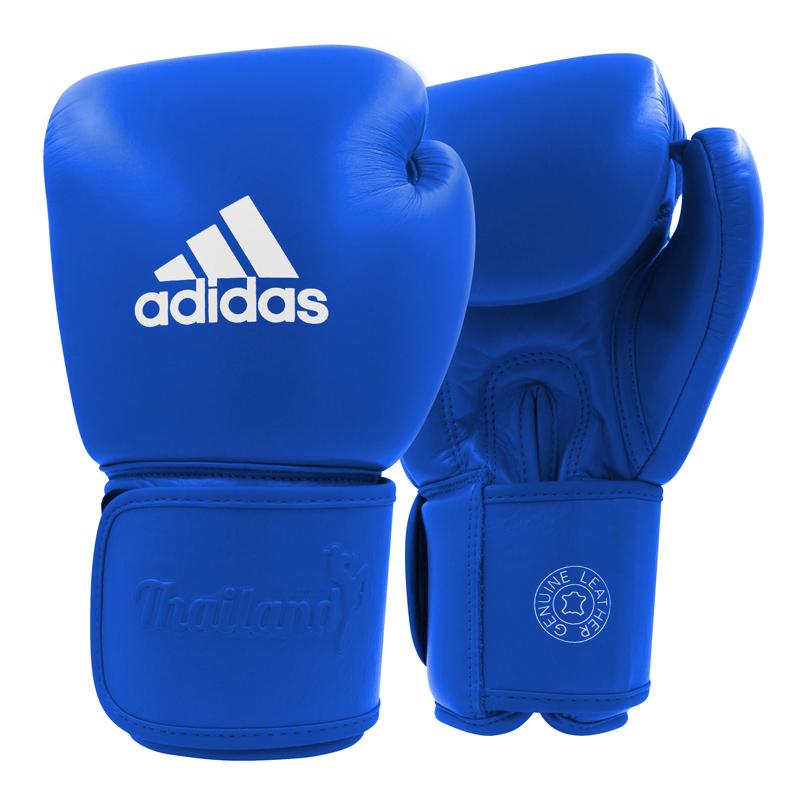 adidas Muay Thai Handschoenen TP200 Blauw/Wit 10oz