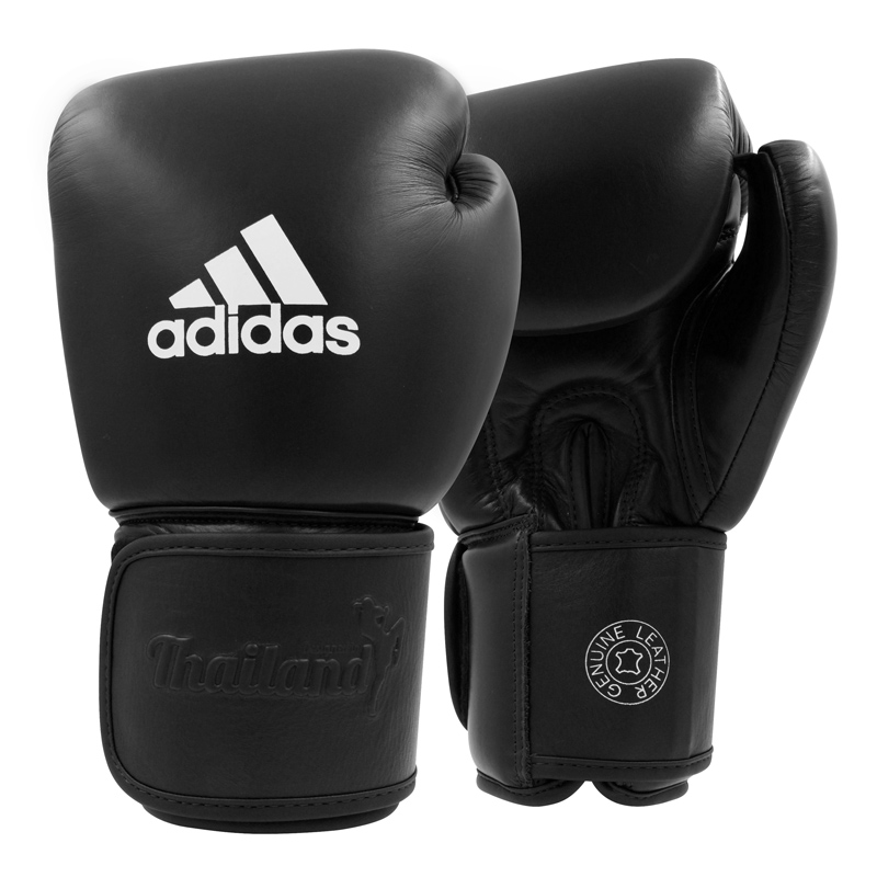 adidas Muay Thai Handschoenen TP200 Zwart/Wit 10oz
