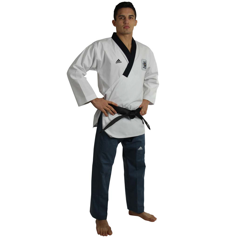 Adidas Poomsae Taekwondopak Heren (Wit/Donker Blauw)
