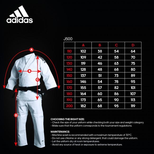 Adidas Judopak J500 Training (Wit)