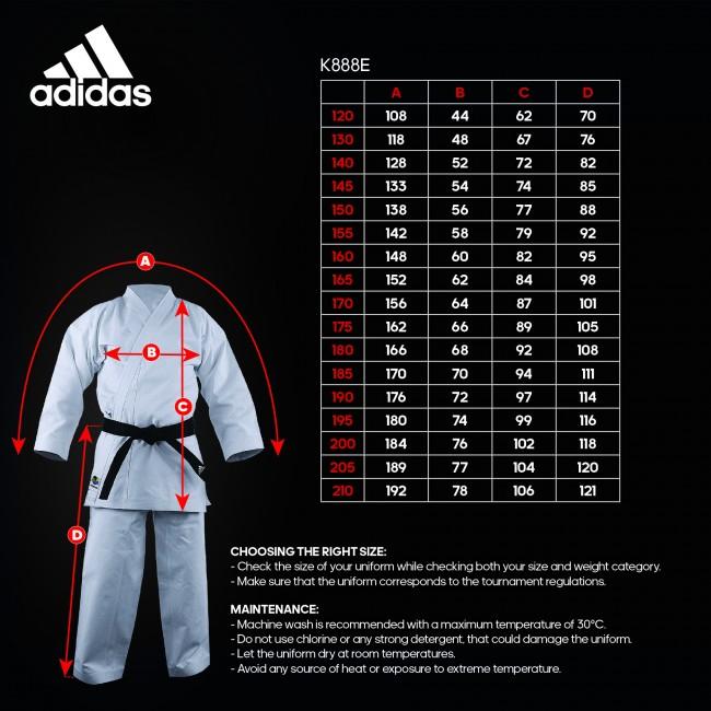 adidas Karatepak K888E Kata Kigai Maat (160)