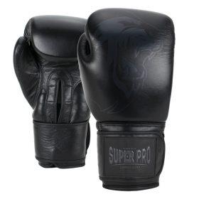 Super Pro Combat Gear Legend Lederen (kick)bokshandschoenen Zwart 12oz