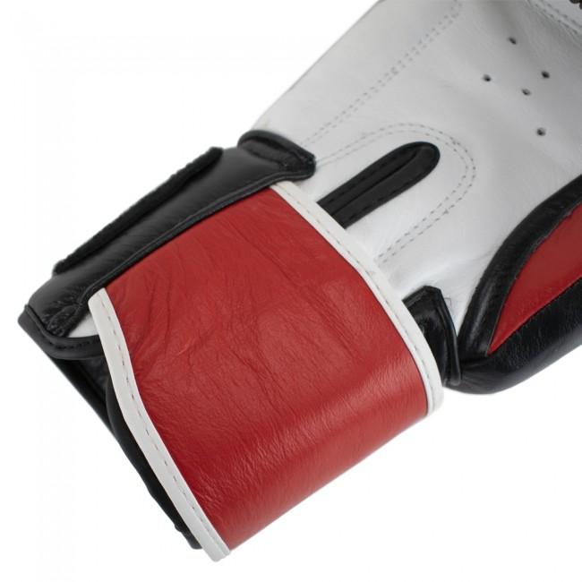 Super Pro Combat Gear Warrior SE Lederen (kick)bokshandschoenen (Zwart/Rood/Wit)