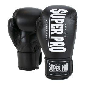 Super Pro Combat Gear Champ (kick)bokshandschoenen Zwart/Wit 8oz