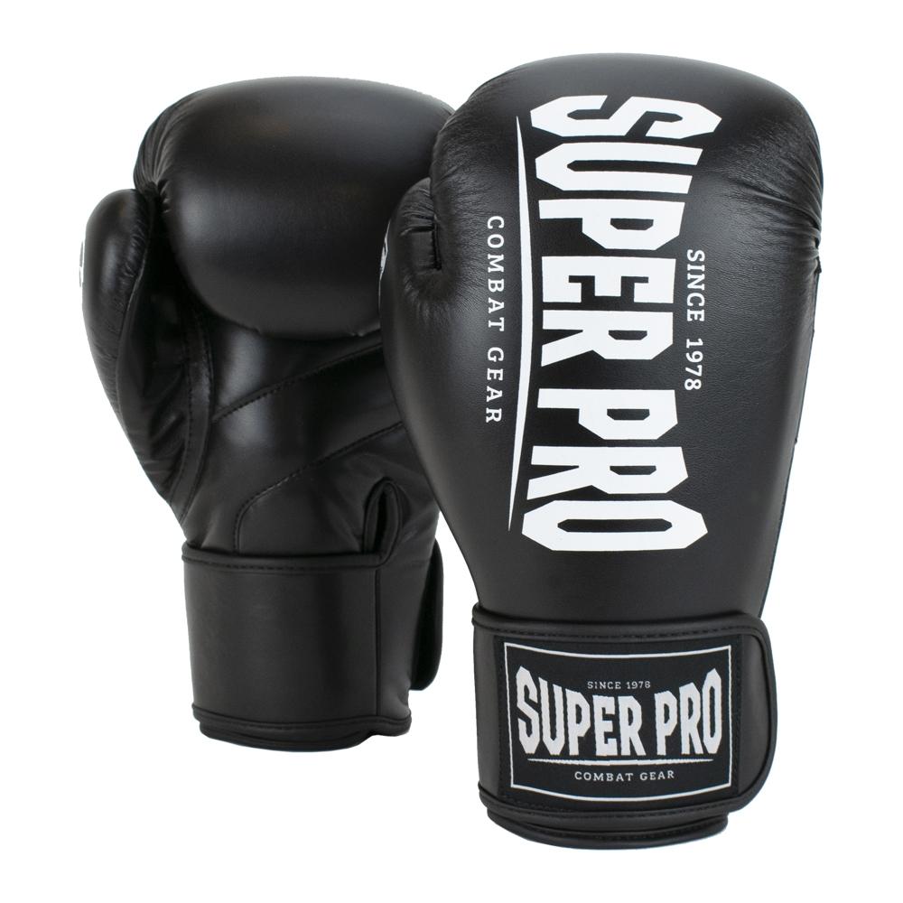 Super Pro Combat Gear Champ (kick)bokshandschoenen (Zwart/Wit)