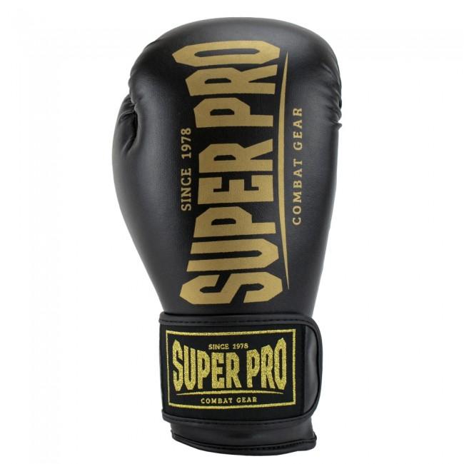 Super Pro Combat Gear Champ SE (kick)bokshandschoenen (Zwart/Goud)