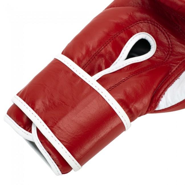 Super Pro Combat Gear Winner 10 oz wedstrijdhandschoenen Klittenband (Rood/Wit)