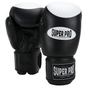 Super Pro Combat Gear Boxer Pro Bokshandschoenen Klittenband Zwart/Wit 12oz