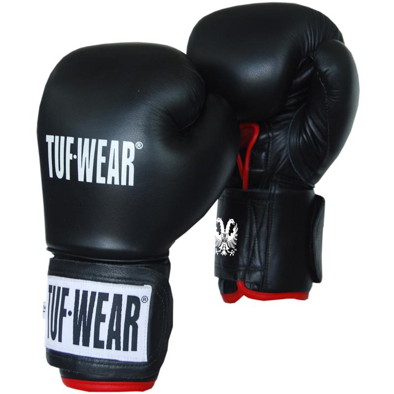 TUF WEAR Safety Spar (kick)bokshandschoen Leder 10 oz