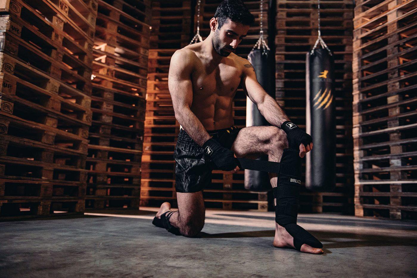 Bruce Lee Scheenbeschermers kickboksen - Shin guards - Katoen