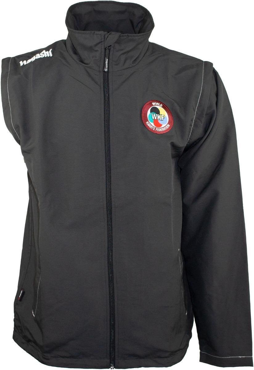 """Hayashi Windbreaker """"WKF"""" multifunctionele jas met verwijderbare mouwen Zwart"""