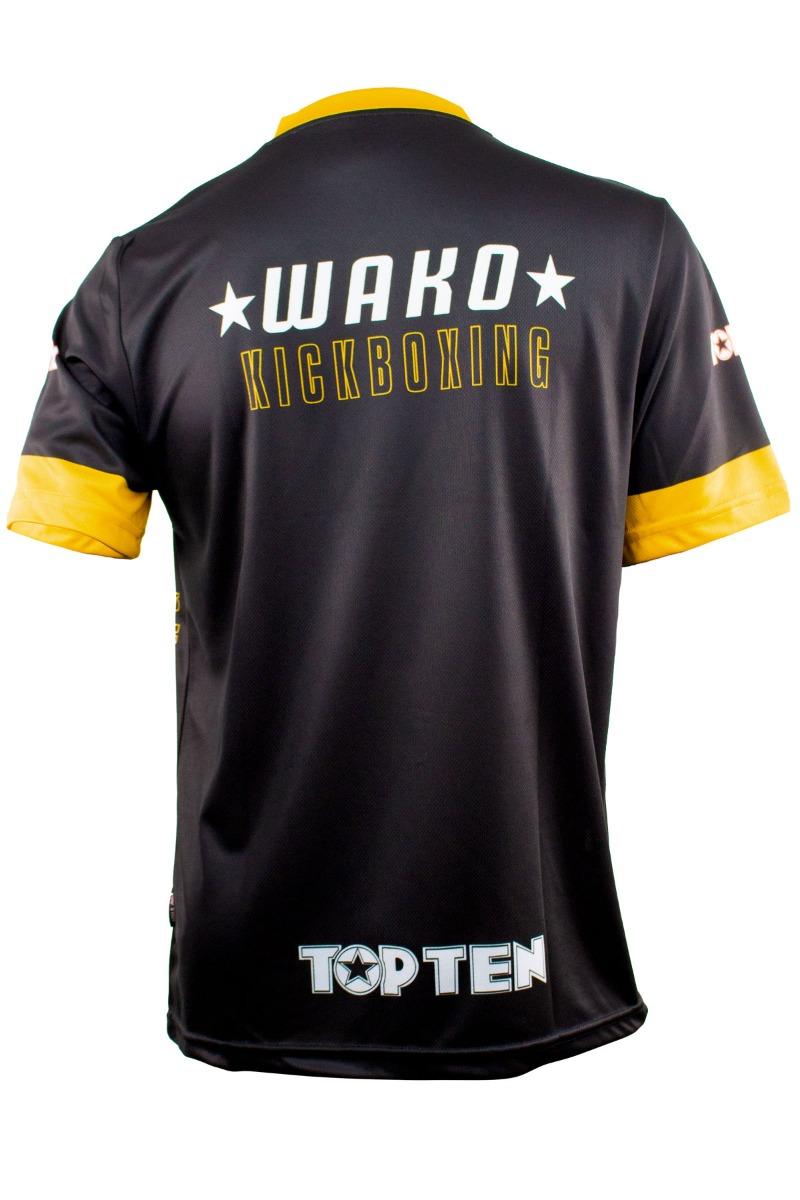 """TOP TEN WAKO Shirt """"Eagle"""" met V-Hals (Zwart - goud)"""