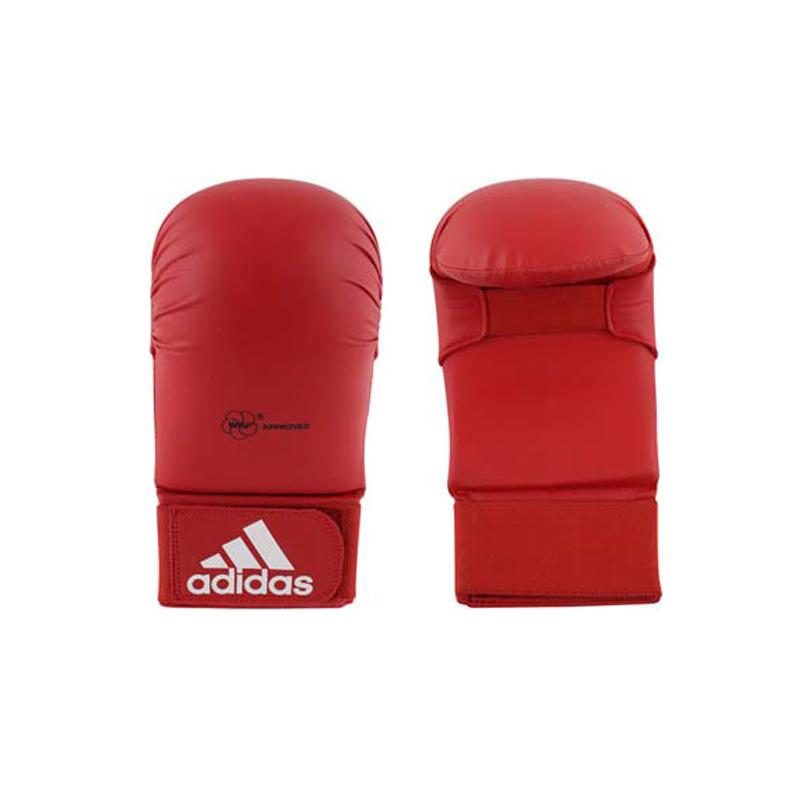 adidas WKF Karatehandschoen Zonder Duim Rood Small