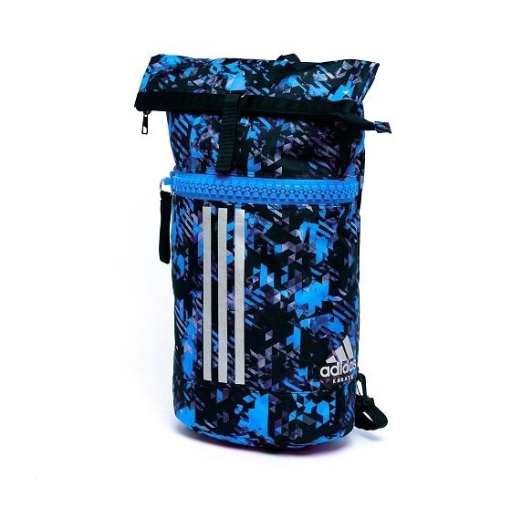 adidas Sporttas Military Combat Blauw Camo/Zilver Medium