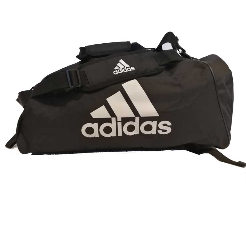 adidas Training Sporttas Polyester 2 in 1 Zwart/Wit Medium