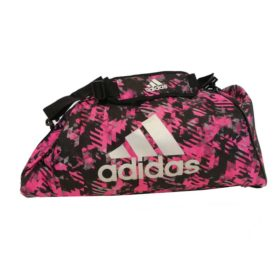 adidas Combat Sporttas Polyester 2 in 1 Roze Camo/Zilver Small