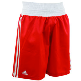 adidas Amateur Boxing Short Lightweight Rood/Wit Extra Small