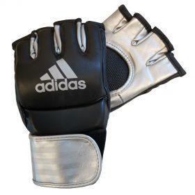 adidas Ultimate MMA Handschoenen (Zwart/Zilver) - Maat M - B-Stock