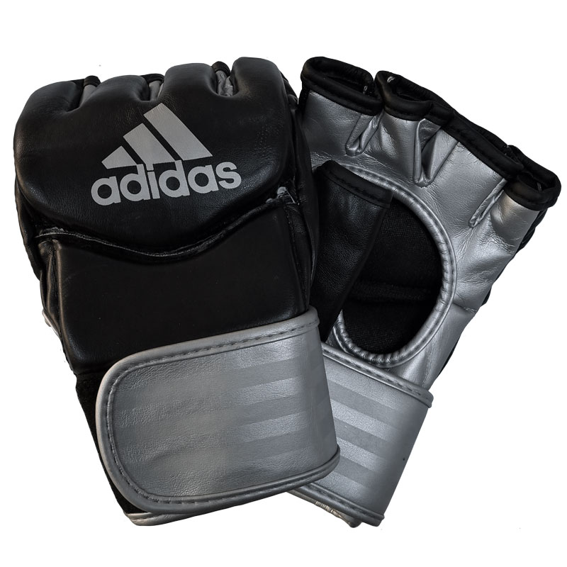 adidas Traditional Grappling Handschoenen Zwart/Zilver Small