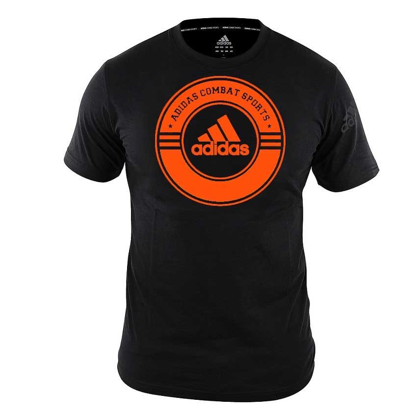 adidas T-Shirt Combat Sports Zwart/Oranje 140