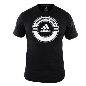 adidas T-Shirt Combat Sports Zwart/Wit 140