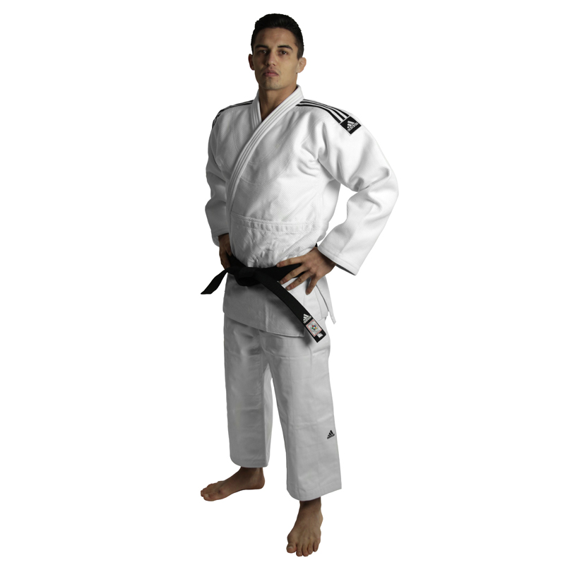 adidas Judopak Champion II IJF Approved Wit 155cm
