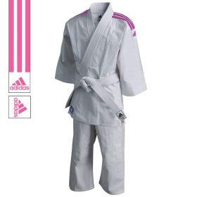 adidas Judopak J200 Evolution Wit/Roze 90-100cm