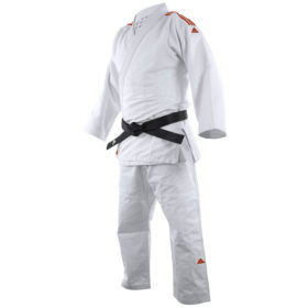 Adidas Judopak J650 Contest Wit/Rood 150cm