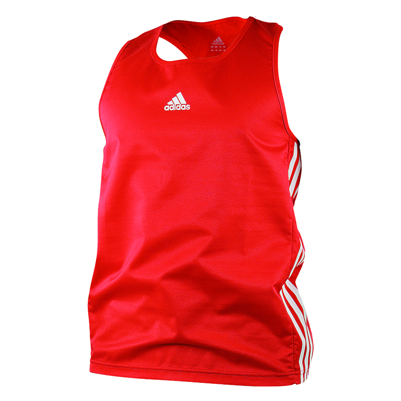 adidas Amateur Boxing Tank Lightweight Rood/Wit Extra Small