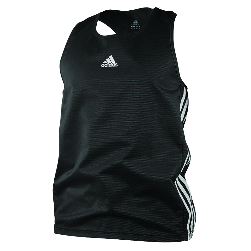 adidas Amateur Boxing Tank Lightweight Zwart/Wit Extra Small