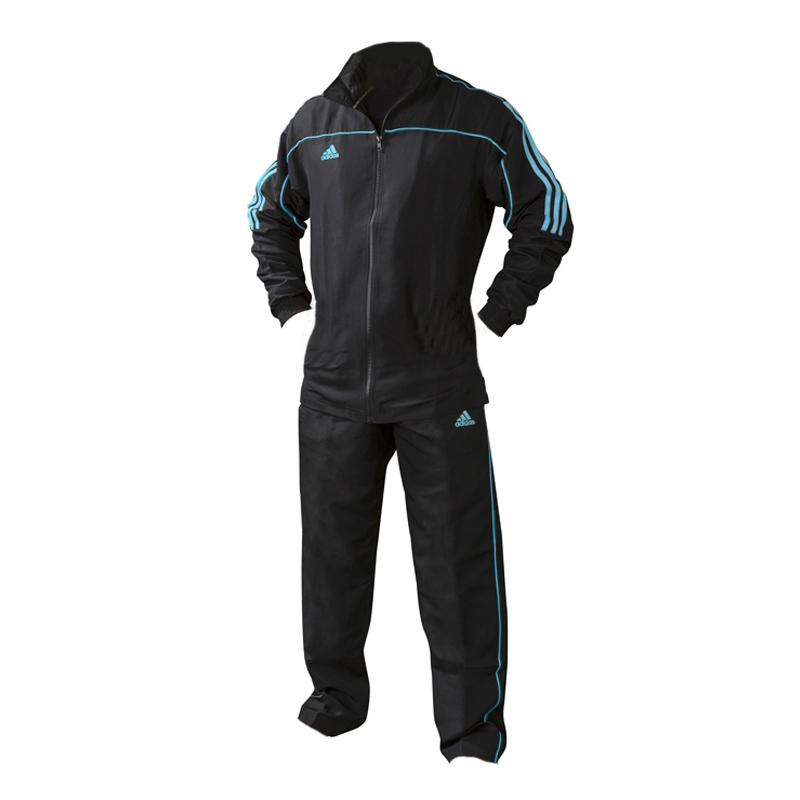 adidas Team Track Trainingsbroek Zwart/Blauw maat 152