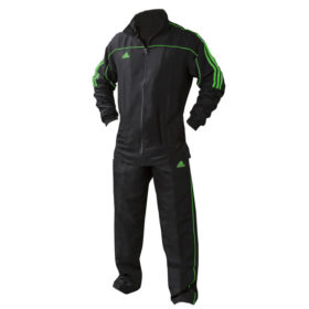 adidas Team Track Trainingsjack Zwart/Groen 140