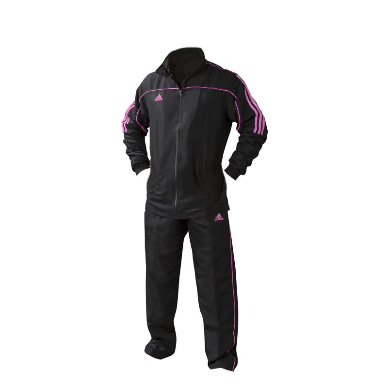 adidas Team Track Trainingsbroek Zwart/Roze maat 140