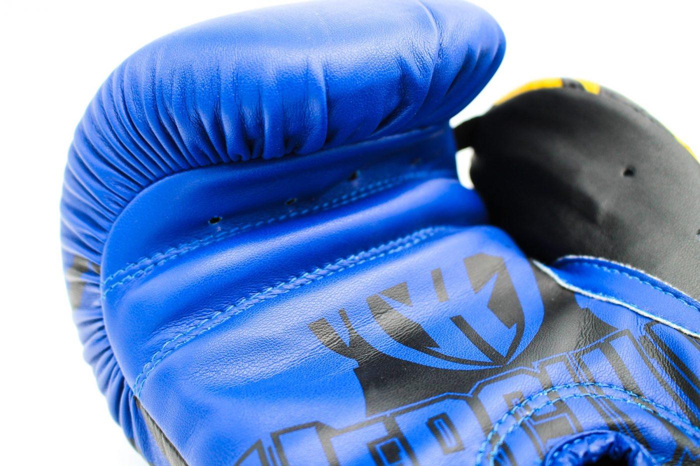 """TOP TEN MMA Bokshandschoenen """"Hercules XLP"""" (Blauw - Geel)"""